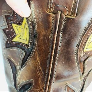 Frye Shoes - Vintage Frye western boots size 10 brown leather